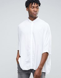 Asos Super Oversized Shirt In White Viscose White