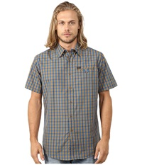 Matix Clothing Company Simian Woven Top Burnt Orange Men's Short Sleeve Button Up