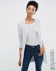 Asos Tall Ultimate Chunky Cardigan Grey