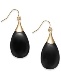 Inc International Concepts Gold Tone Teardrop Stone Earrings Only At Macy's Black
