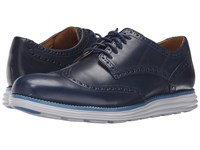 Cole Haan Original Grand Wingtip Peacoat Vapor Blue Men's Lace Up Wing Tip Shoes