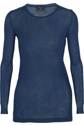 By Malene Birger Ribbed Knit And Stretch Silk Top