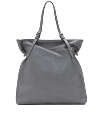 Tomas Maier North South Leather Tote Grey