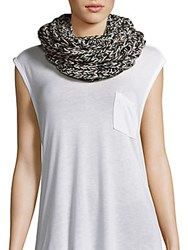 Marc By Marc Jacobs Knitted Merino Wool Scarf Black Mult