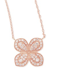 Jamie Wolf Rose Gold Pave Scalloped Flower Necklace With Diamonds