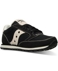 Saucony Women's Jazz Lo Pro Vegan Casual Sneakers From Finish Line Black Oatmeal