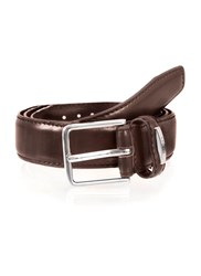 Dents Mens Plain Leather Belt Brown