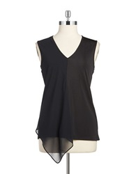 Anne Klein Chiffon Tank Top Black