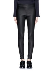 Theory 'Adbelle L' Leather Leggings Black