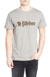 Fjall Raven Men's Fj Llr Ven 'Retro' Organic Cotton Graphic T Shirt Grey