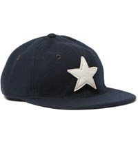 Rrl Appliqued Wool Blend Felt Baseball Cap Navy
