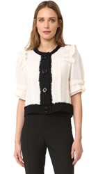 Amelia Toro Short Sleeve Bolero Jacket White Black