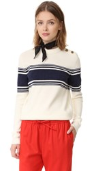 Tory Burch Lukas Sweater Tuileries Stripe