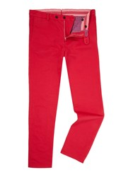Richard James Garment Washed Trouser Raspberry