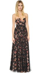 Free People Party Printed Ball Gown Black Combo