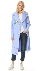 Mira Mikati Fly Away Rocket Coat Light Blue