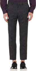 Ps Paul Smith Camo Jacquard 'Gents' Trousers Black Size 28
