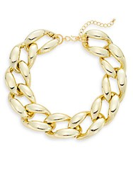 Kenneth Jay Lane Couture Collection Chain Link Choker Necklace Polished Gold