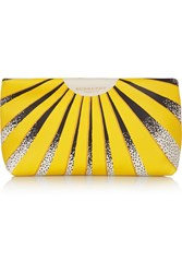 Burberry Summer Meadows Leather Clutch Yellow