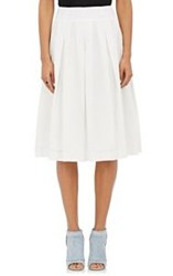 Cacharel Women's Eyelet Pleated Midi Skirt White