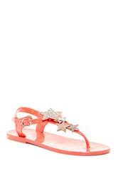 Restricted Jubilee Jelly Thong Embellished Sandal Pink