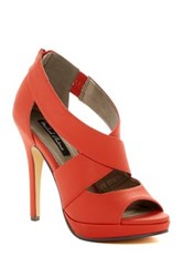 Michael Antonio Tovey Peep Toe Heel Red