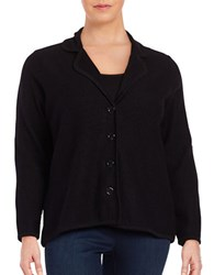 Nipon Boutique Plus Wool Cardigan Black