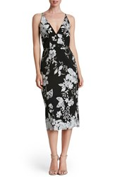 Dress The Population Women's Embroidered Midi