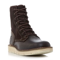 Timberland A17xn White Sole High Boots Dark Brown