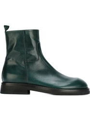 Ann Demeulemeester Zipped Ankle Boots Green
