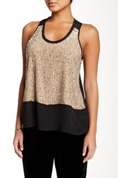Eileen Fisher Sequin And Silk Tank Petite Pink