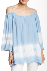 Peach Love California Tie Dye Tunic Blue
