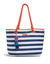 Vera Bradley Striped Beach Tote Bag Navy Stripe