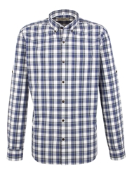 Gibson Check Tailored Fit Button Down Shirt Blue