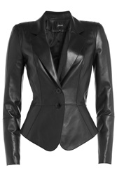 Jitrois Fitted Leather Blazer Black
