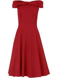 Phase Eight Odette Grosgrain Dress Red