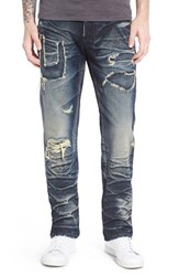 Men's Prps 'Barracuda' Repaired Straight Leg Jeans Enzyme