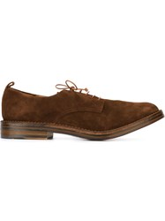 Buttero Stacked Heel Derby Shoes Brown