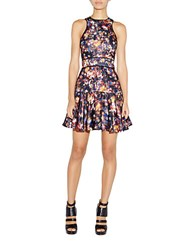 Nicole Miller Floral Fit And Flare Dress Floral Multi