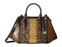Brahmin Arden Satchel Brown Satchel Handbags