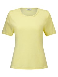 Eastex Picot Trim Jersey Top Yellow