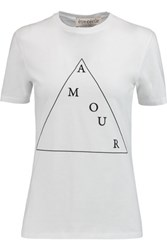 Etre Cecile Amour Printed Cotton T Shirt White