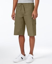 Sean John Men's Lightweight Cargo Shorts Grapeleaf