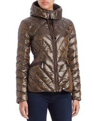 Vince Camuto Quilted Puffer Jacket Bark