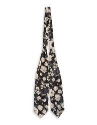 Bcbgeneration Patterned Bow Toe Scarf Black