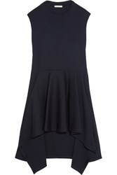 Marni Double Faced Wool Blend Jersey Tunic Midnight Blue