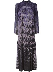 Raquel Allegra Tie Dye Print Maxi Dress Pink And Purple