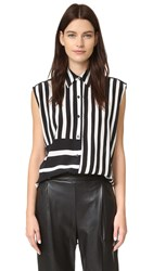 Tome Baja Stripe Lace Back Shirt Black