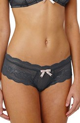 Eberjey Women's 'Anouk' Lace Hipster Briefs Graphite