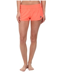 Volcom Simply Solid 2 Boardshort Electric Coral Women's Swimwear Pink